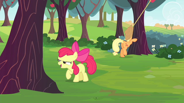 File:Apple Bloom ready to buck an apple tree S4E17.png