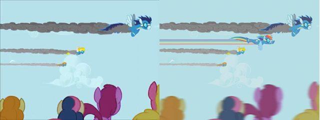 File:FANMADE Comparison imagine spot Rainbow Dash.jpg