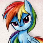 File:FANMADE Rainbow Dash Confident Grin.png