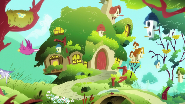 File:Fluttershy's Cottage opening exterior S5E7.png