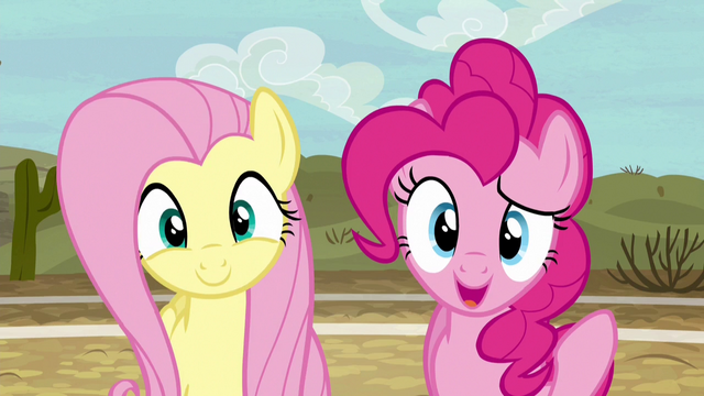 File:Fluttershy and Pinkie pleasantly surprised S6E18.png