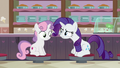 "Rarity ""when did you get so practical?"" S7E6.png"