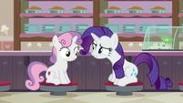 "Rarity ""when did you get so practical?"" S7E6"