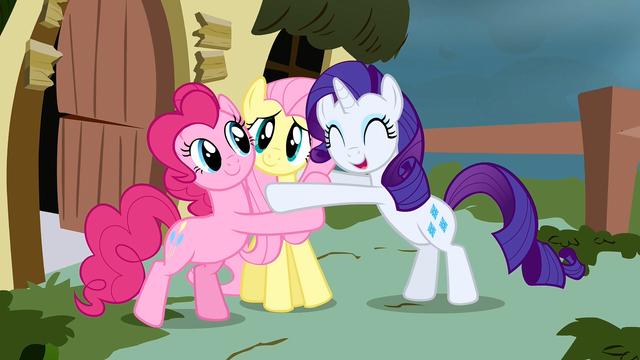 File:Rarity Pinkie Fluttershy hug S2E19.png