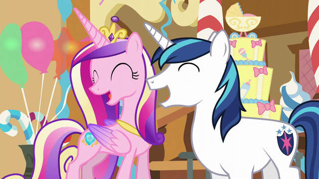 File:Shining Armor and Cadance laughing S5E19.png