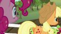 Applejack walking away from Pinkie Pie S5E24.png