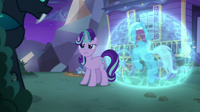 File:Starlight Glimmer looking at Thorax S6E25.png