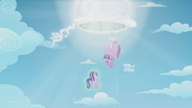 File:Twilight and Spike pulled up into the portal S5E25.png