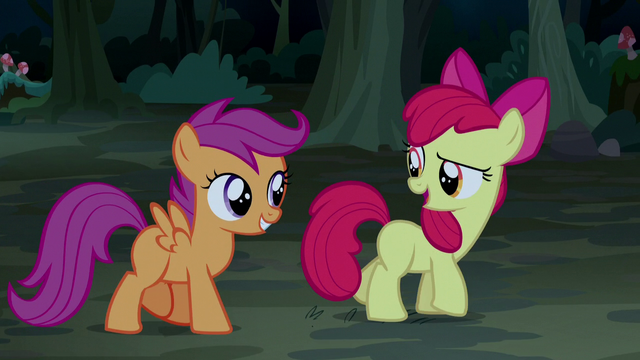 "File:Apple Bloom ""we don't need to capture him"" S5E6.png"