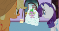 Spike in a pile of soap bubbles S3E9.png