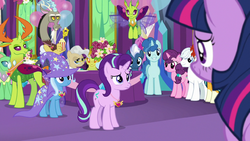 Starlight Glimmer surrounded by friends S7E1.png