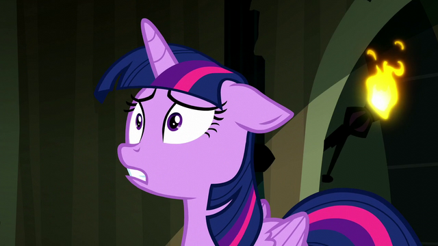 "File:Twilight ""Luna's turning into Nightmare Moon again!"" S5E13.png"
