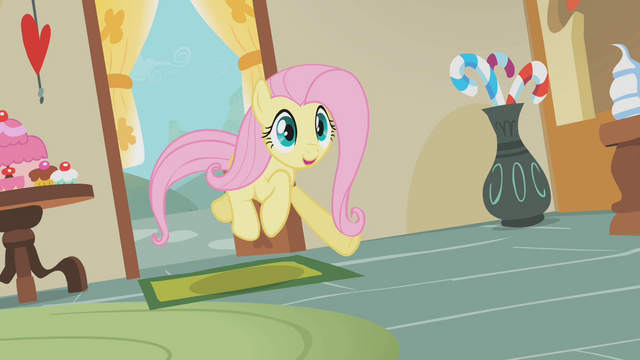 File:Fluttershy rushes to Sugarcube Corner S1E10.png