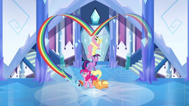 File:Main ponies final cheer pose S03E12.png