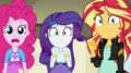 Pinkie, Rarity, and Sunset looking worried EGS1.png