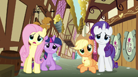 Rarity & Fluttershy cute expressions S3E7