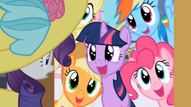 File:Rarity's friends meet her in Canterlot S2E9.png