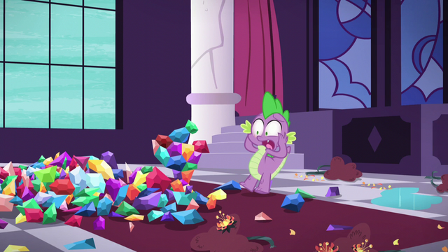 File:Spike shocked at the statue's destruction S5E10.png