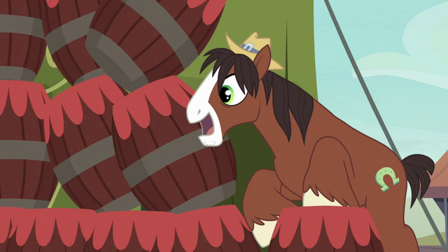 File:Trouble Shoes knocking over stacked barrels S5E6.png