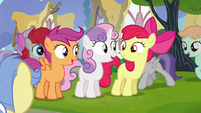 Cutie Mark Crusaders excited S4E15