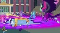 Equestria Girls' magic flows into the device EG3