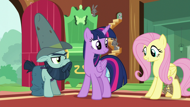 "File:Fluttershy ""he certainly knows his stuff"" S7E5.png"