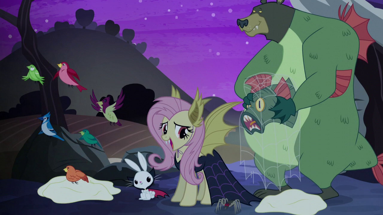 image   fluttershy we could celebrate nightmare night