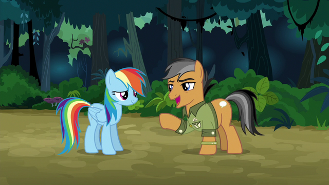 File:Quibble Pants calling Rainbow awesome S6E13.png