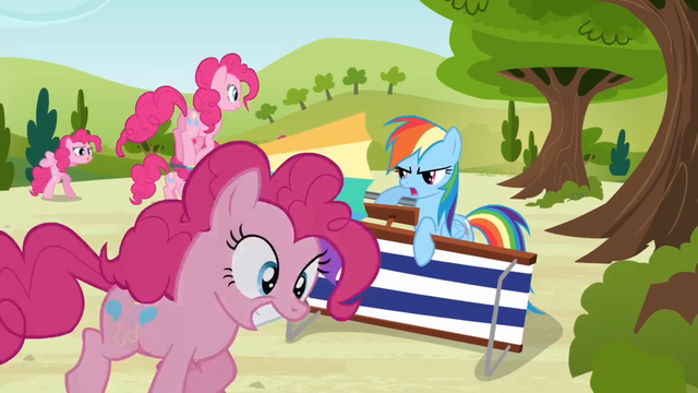 File:Rainbow Dash defends against Pinkies S3E3.png