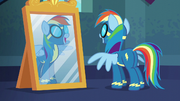 Rainbow Dash looking in the mirror S6E7
