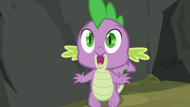 File:Spike noticing Applejack S3E9.png