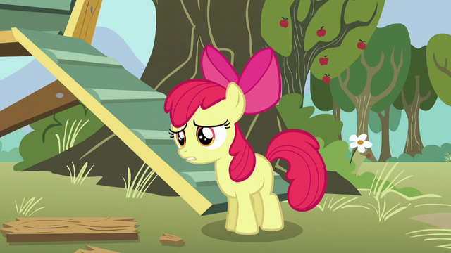"File:Apple Bloom panicked ""you did?"" S5E4.png"