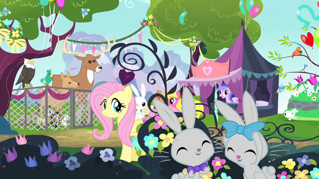File:Fluttershy walking with Angel on her back S4E14.png