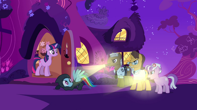 File:Rainbow Dash and Hospital staff S2E16.png