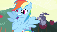 Rainbow Dash with a worried expression S4E7