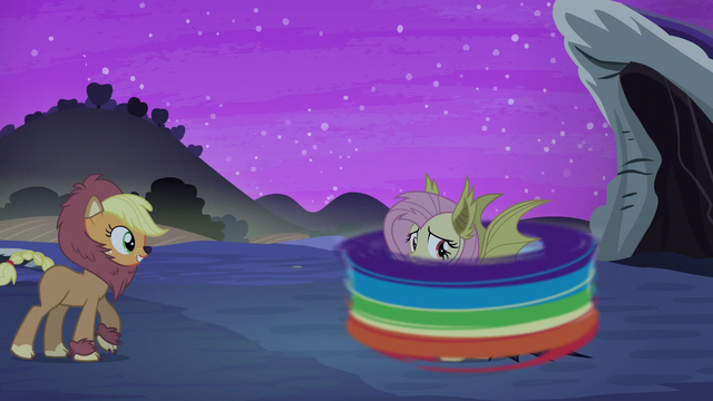 File:Rainbow zipping around Fluttershy S5E21.png