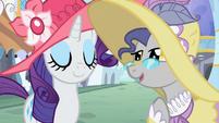 A pony talks to Rarity S2E09