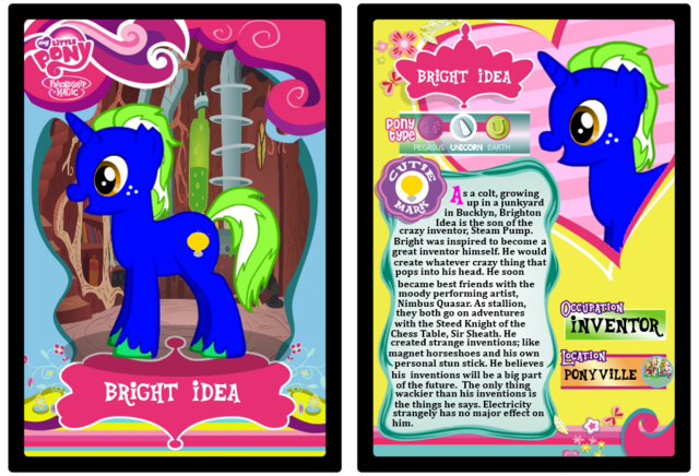 File:FANMADE Bright Idea Trading Card.png