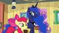 Apple Bloom and Luna greet the other Crusaders S5E4.png