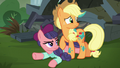 Applejack and Method Mare look at stage S5E16.png