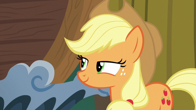 File:Applejack pleased with herself S6E20.png