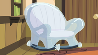 Chair covered with plastic S4E17