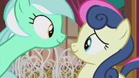 Lyra and Sweetie Drops smiling again S5E9