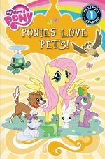 My Little Pony Ponies Love Pets! storybook cover
