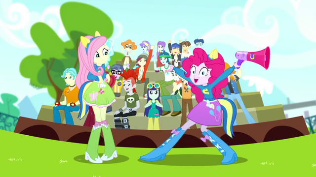 File:Pinkie Pie and CHS students very excited SS4.png