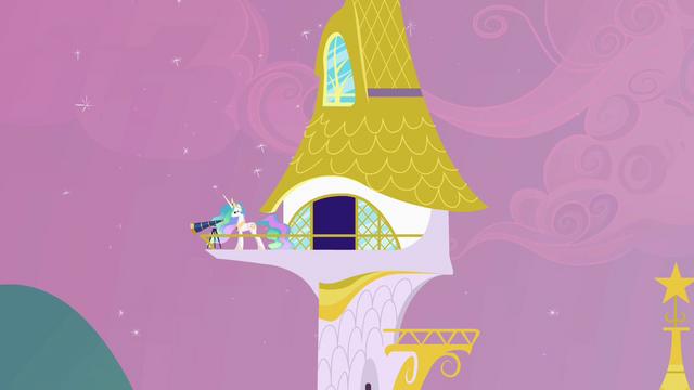 File:Princess Celestia guarding Canterlot S2E25.png