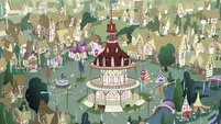 Rain pouring on Ponyville S03E13