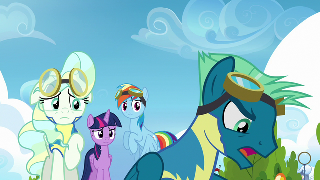 "File:Sky Stinger ""everypony but me knows"" S6E24.png"