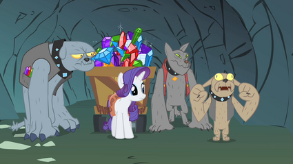 Rarity driving the dogs crazy S1E19.png