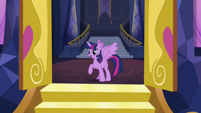 File:Twilight Sparkle at the castle front doors S4E26.png